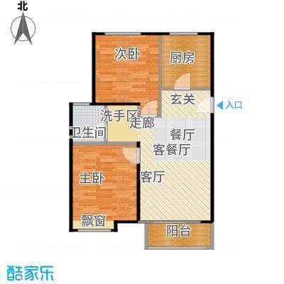 鸿坤·原乡小镇86.00㎡鸿坤・原乡小镇花涧公馆H户型
