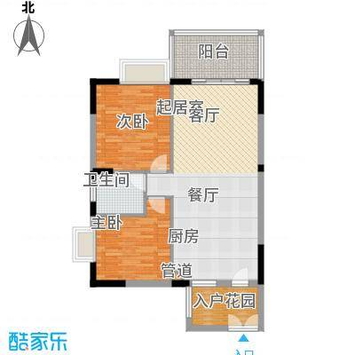 山水绿世界88.65㎡1号楼标准层07号房户型