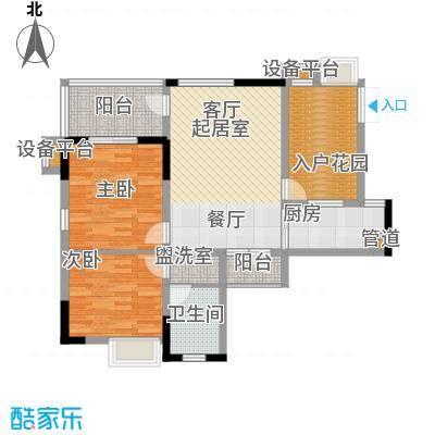 山水绿世界89.38㎡1号楼标准层01号房户型