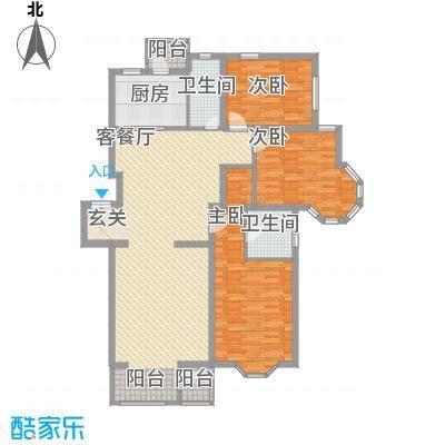 大宁山庄121.40㎡C-2标户型