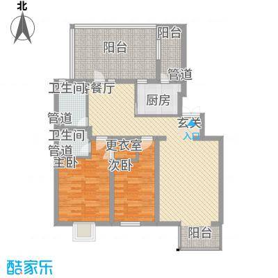 大宁山庄115.30㎡C-3D-3顶户型