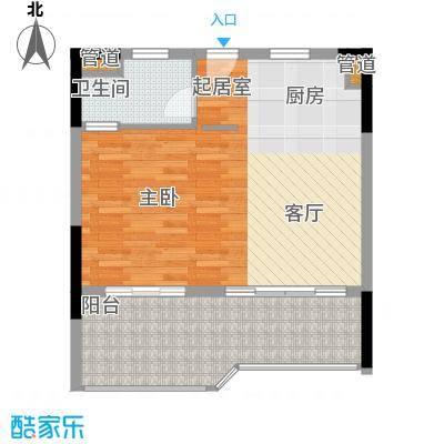 鹏欣白金湾60.00㎡域主题户型