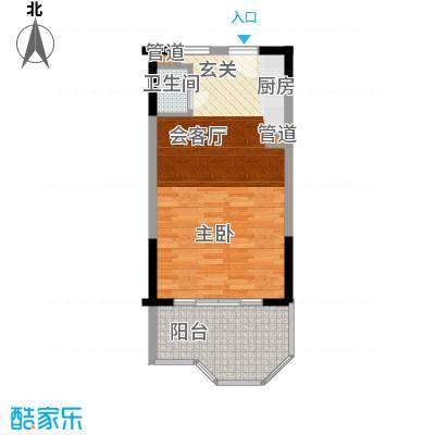 鹏欣白金湾46.00㎡石主题户型