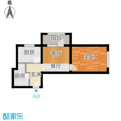 K2京西狮子城51.95㎡2、6、7号楼C-4户型