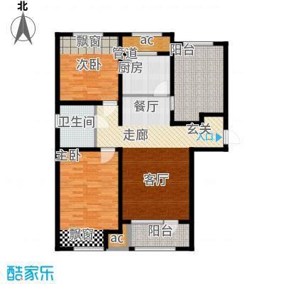 永定河·孔雀城106.00㎡永定河・孔雀城H1户型