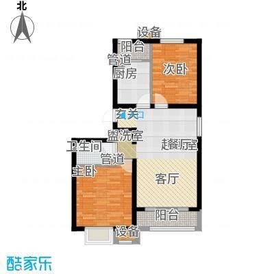 京汉君庭89.00㎡20/22#C-1/C-1(反)户型