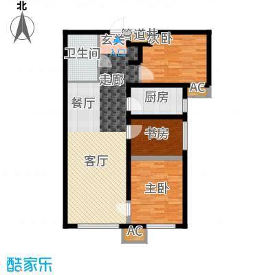 鸿坤·理想湾88.70㎡鸿坤・理想湾C户型