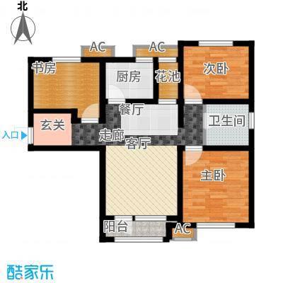 鸿坤·理想湾97.00㎡鸿坤・理想湾C-2户型