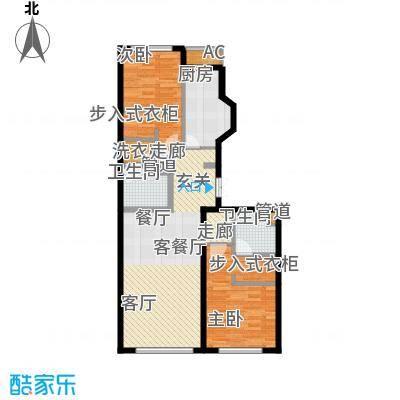 中海枫丹公馆137.00㎡FD-F户型