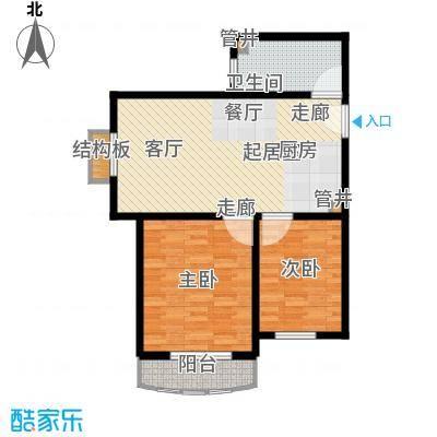 汤INN酒店式公寓75.00㎡P户型