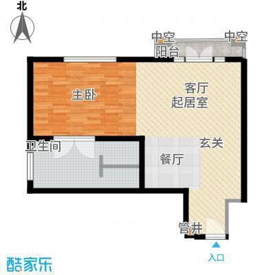 汤INN酒店式公寓74.00㎡一期公寓B户型