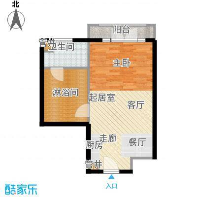 汤INN酒店式公寓49.00㎡一期公寓F户型