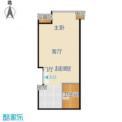 国瑞紫金阁50.00㎡A区3号公寓A1户型
