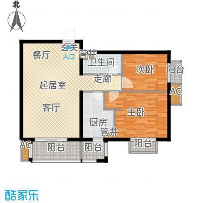 行宫·御东园100.44㎡行宫・御东园3号楼B5户型