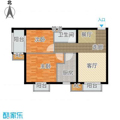 行宫·御东园92.03㎡行宫・御东园2号楼B8户型