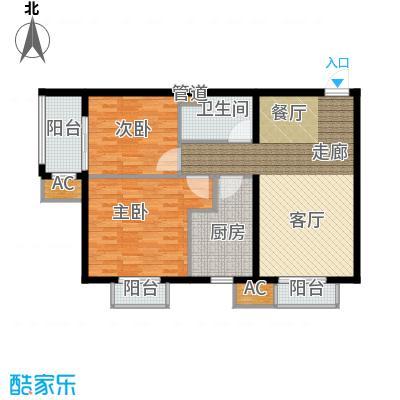 行宫·御东园92.16㎡行宫・御东园4号楼B4户型