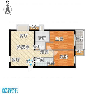 行宫·御东园80.90㎡行宫・御东园3号楼B3户型