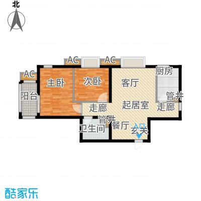 行宫·御东园88.63㎡行宫・御东园2号楼B6户型