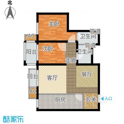 行宫·御东园98.53㎡行宫・御东园2号楼B7户型