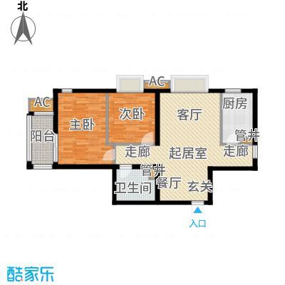 行宫·御东园82.96㎡行宫・御东园4号楼B6户型