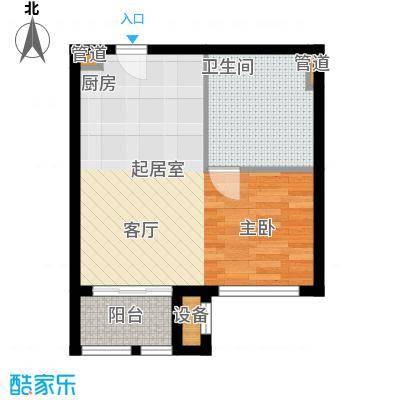 玉龙湾养生度假区54.29㎡酒店式公寓户型