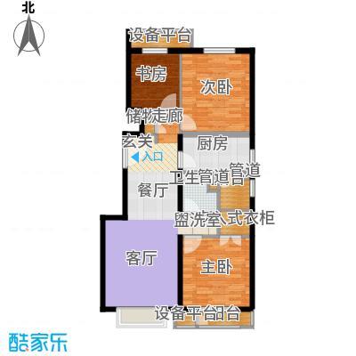 京投万科新里程108.00㎡二期A边户型