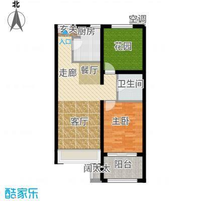 北京城建·红木林77.00㎡北京城建・红木林B3户型
