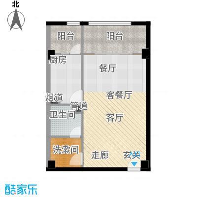 北京悦72.75㎡1号楼A4户型