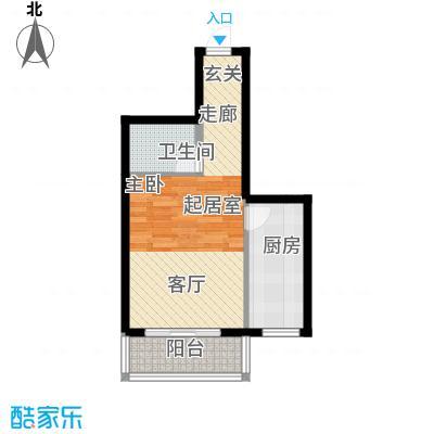 北京悦50.00㎡6号楼B3(售罄)户型