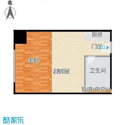 西贸国际·熙旺中心50.81㎡西贸国际・熙旺中心A户型