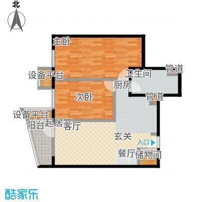 大西洋新城91.62㎡525号楼6-25层E(已售完)户型
