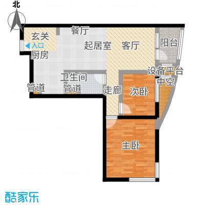 大西洋新城92.67㎡522号楼6-26层D(已售完)户型