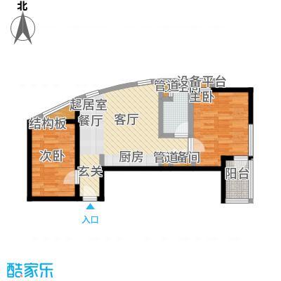 大西洋新城78.24㎡523号楼6-30层A(已售完)户型