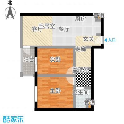 大西洋新城82.44㎡522号楼6-26层H(已售完)户型
