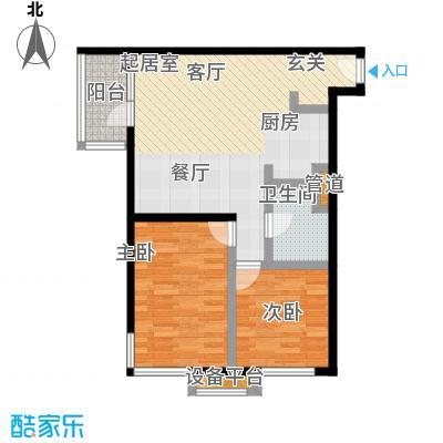 大西洋新城92.57㎡522号楼6-26层F(已售完)户型