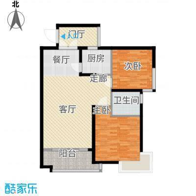 爱琴万泉水郡93.63㎡水榭香居(三期)户型