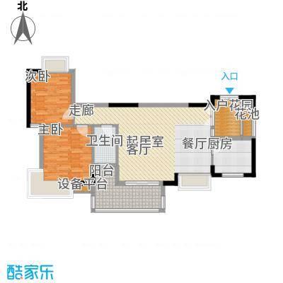 东方豪苑89.28㎡5#楼B户型
