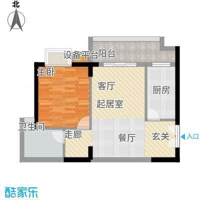 东方豪苑60.59㎡5#楼C户型