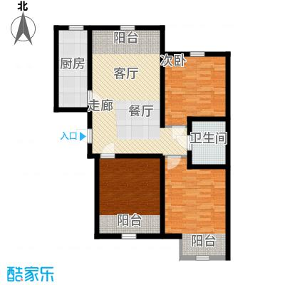 紫辰悦府95.00㎡一期1、2、3号楼I`户型