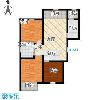 紫辰悦府93.00㎡一期1、2、3号楼L1户型