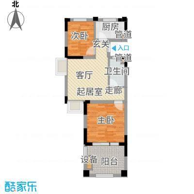 山泉海71.46㎡二期8#楼B1-1D(售罄)户型
