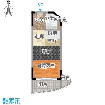 博鳌海御53.00㎡E-05户型