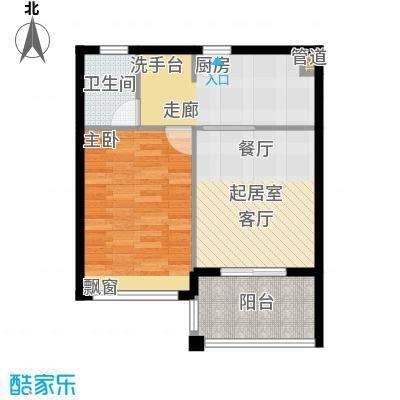万泉明珠65.20㎡6#F户型