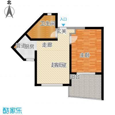 博鳌宝莲城76.65㎡蝶海公寓D02/0户型