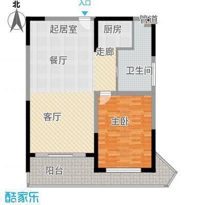 博鳌宝莲城95.46㎡F栋A2户型