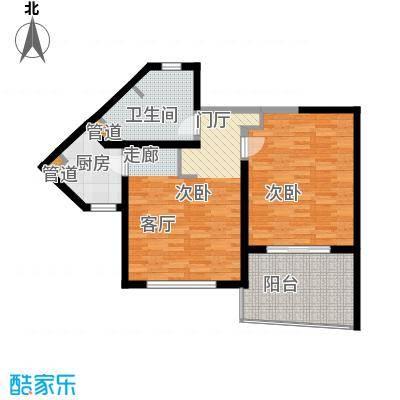 博鳌宝莲城76.75㎡雍海公寓户型