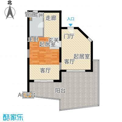 博鳌宝莲城85.55㎡尊海公寓B04-05户型