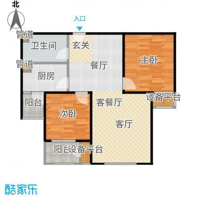 三田雍泓·青海城91.40㎡三田雍泓・青海城一期3号楼H1户型