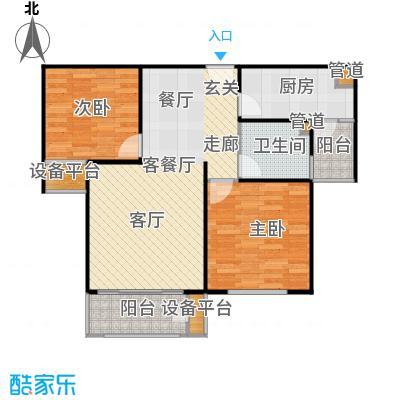 三田雍泓·青海城96.60㎡三田雍泓・青海城一期6号楼B户型