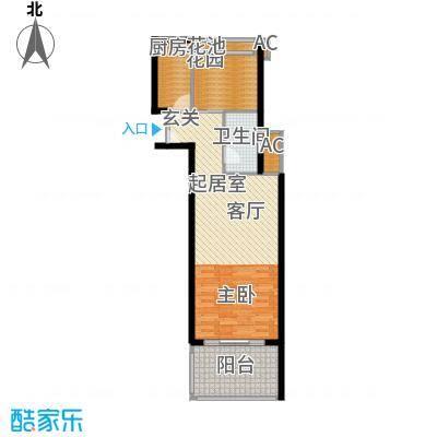 博鳌经典51.20㎡精品型度假公寓户型